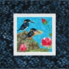 Javian Blue-Banded Kingfishers Wall Hanging