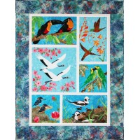 Endangered Birds Quilt (Full Kit) by Shania Sunga